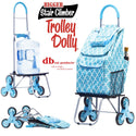 Shopping cart used as dolly.