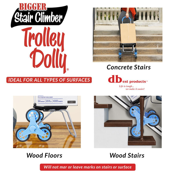 Trolley dolly climbing stairs.