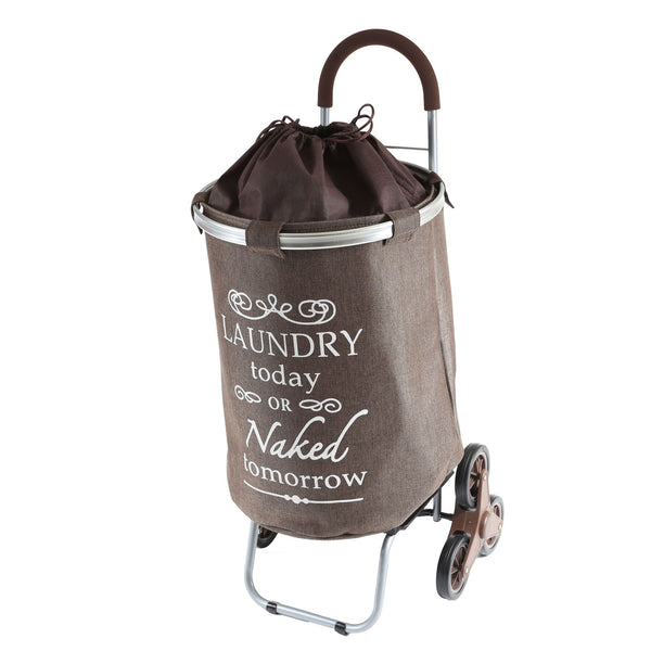 Stair Climber Laundry Hamper Brown.
