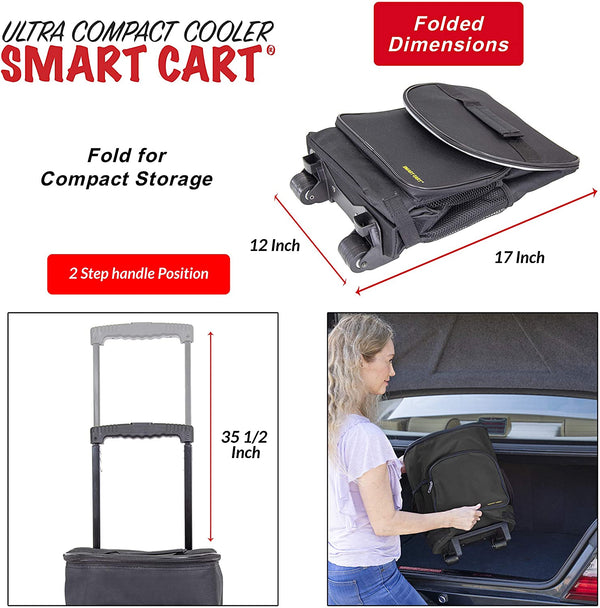 Folded Dimensions of Cooler Smart Cart.
