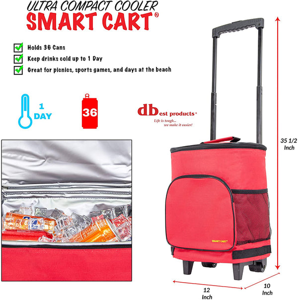 Dimensions of Ultra Compact Cooler Cart.