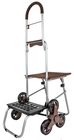 Stair Climber Mighty Max with Seat - Brown - Trolley Dolly   - Storage & Organization,dbest products, Inc. - dbest products, Inc