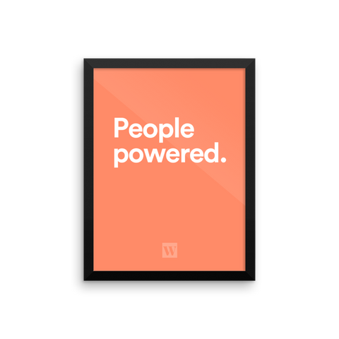 People Powered Framed Poster