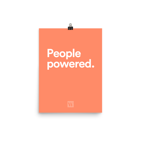 People Powered Unframed Poster