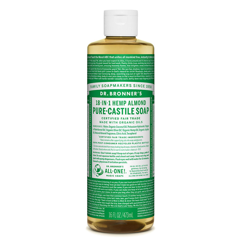 Dr. Bronner's Pure-Castile Liquid Soap - Almond - 473ml