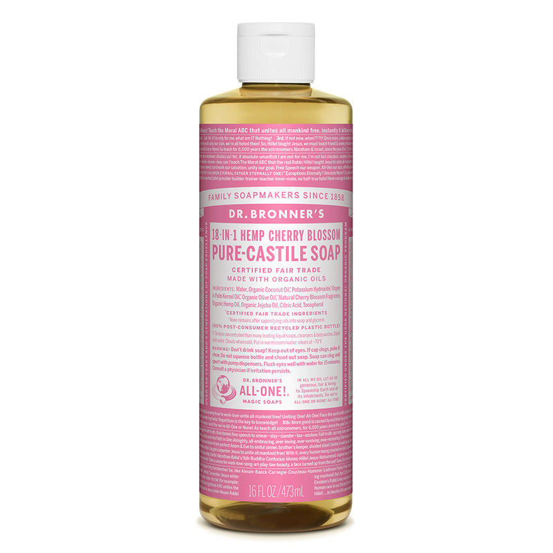 Dr. Bronner's Pure-Castile Liquid Soap - Cherry Blossom - 473ml