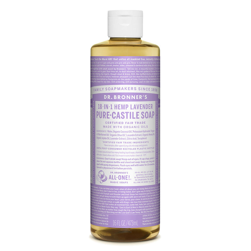 Dr. Bronner's Pure-Castile Liquid Soap - Lavender - 473ml