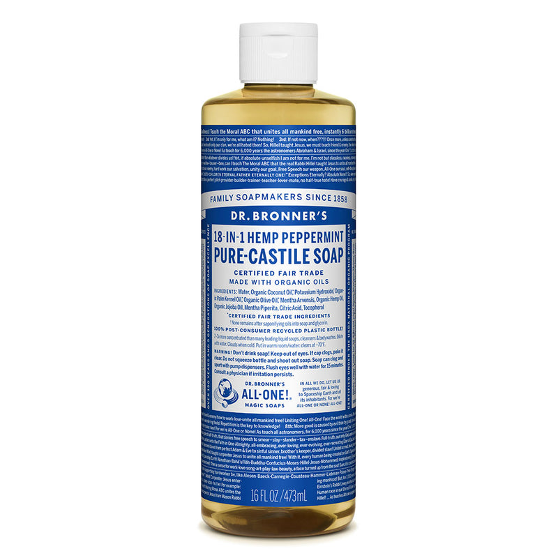 Dr. Bronner's Pure-Castile Liquid Soap - Peppermint - 437ml