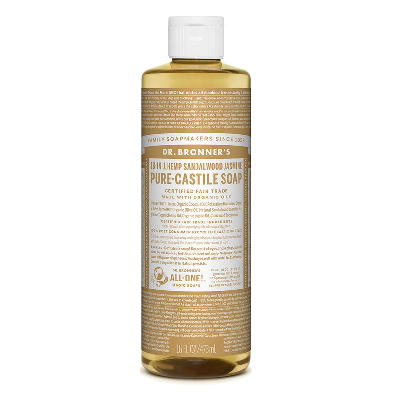 Dr. Bronner's Pure-Castile Liquid Soap - Sandalwood Jasmine - 473ml