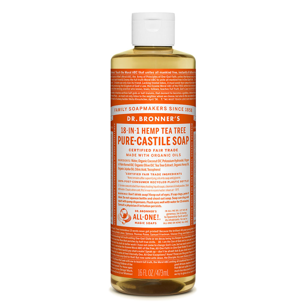 Dr. Bronner's Pure-Castile Liquid Soap - Tea Tree - 473ml