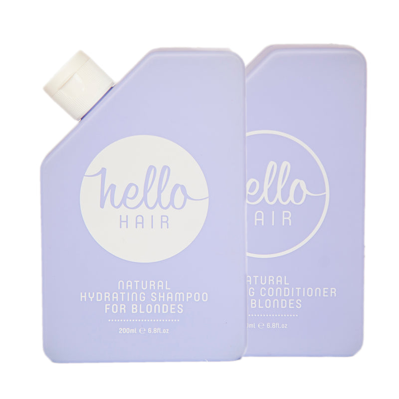 Hello Hair  Natural Hydrating Shampoo and Conditioner for Blondes Duo
