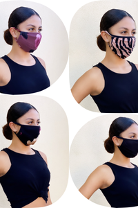 * Stretchy double layer face mask