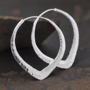 lotus hoop earrings sterling silver