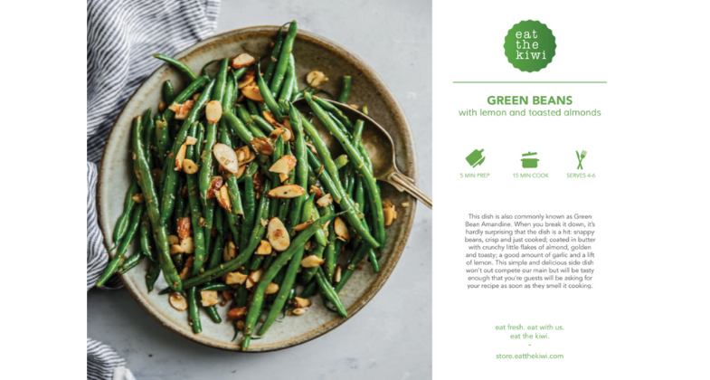 Green Beans with Lemon and Almonds Recipe Kit (Serves 4)