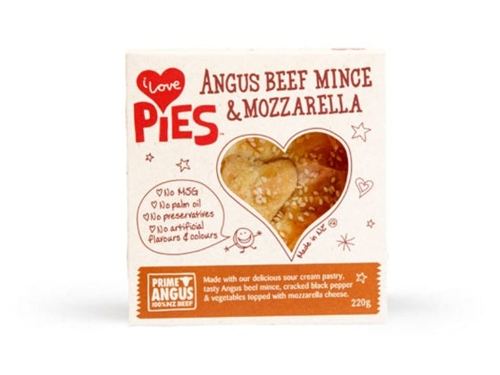 I Love Food Co. Angus Beef Mince and Mozzarella Pie (Frozen, 200g)