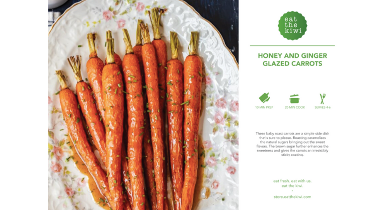 Honey and Ginger Glazed Carrots Recipe Kit (Serves 4-6)