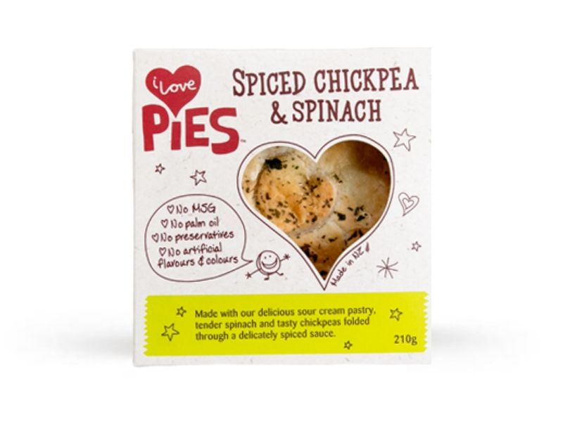 I Love Food Co. Spiced Chickpea and Spinach Pie (Frozen, 210g)