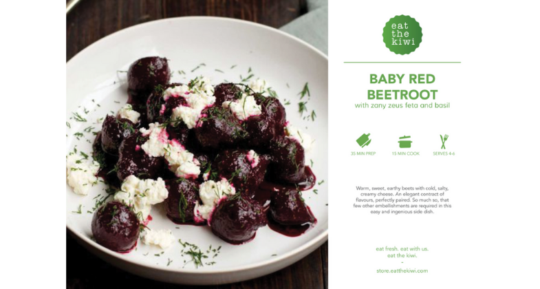 Baby Beetroot with Zany Zeus Feta and Basil Recipe Kit (Serves 4-6)