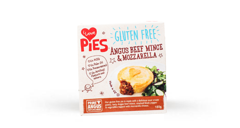 I Love Food Co. Gluten-Free Beef Mince and Mozzarella Pie (Frozen, 170g)