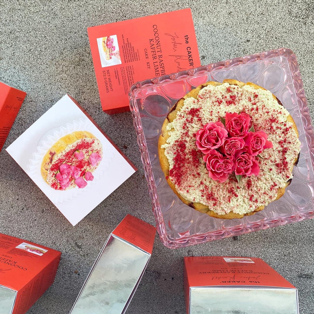 The Caker Coconut Raspberry Kaffir Lime Cake Kit