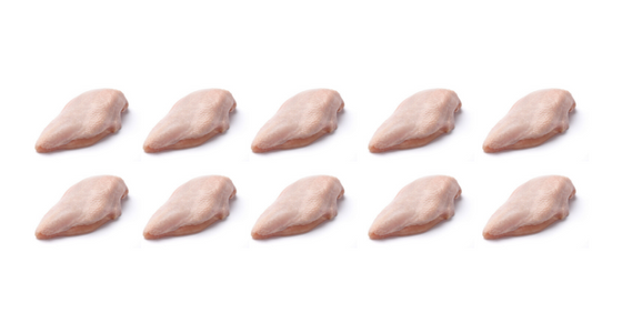 Bird & Barrow Free Range Chicken Breast Skin-On (Frozen, 2kg, 10 pieces, not IQF*)