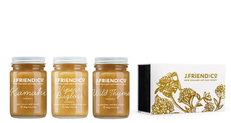 J.Friend & Co. Honey Cheese Paring Collection (3 x 160g)