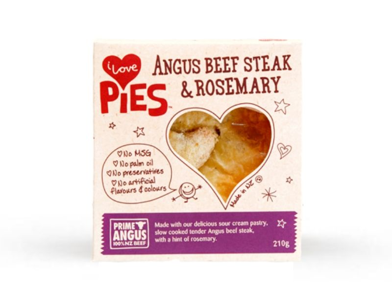 I Love Food Co. Angus Beef Steak and Rosemary Pie (Frozen, 210g)