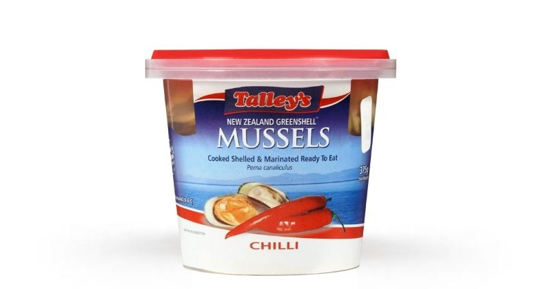 Talleys Cooked Marinated Greenshell Mussels (Chilli, 375g)