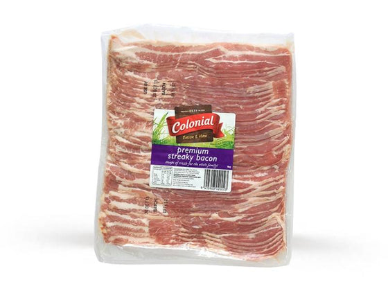 Bacon (Streaky, Presevative Free, Frozen, 1kg)