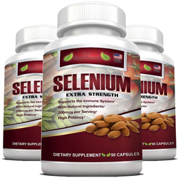 Selenium Supplement 200mcg By Pure Healthland - 3 Bottles