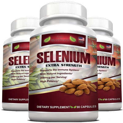 Selenium Supplement 200mcg By Pure Healthland - 3 Bottles - Pure Healthland