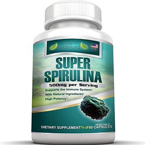 Spirulina Supplement Veggie Capsules By Pure Healthland