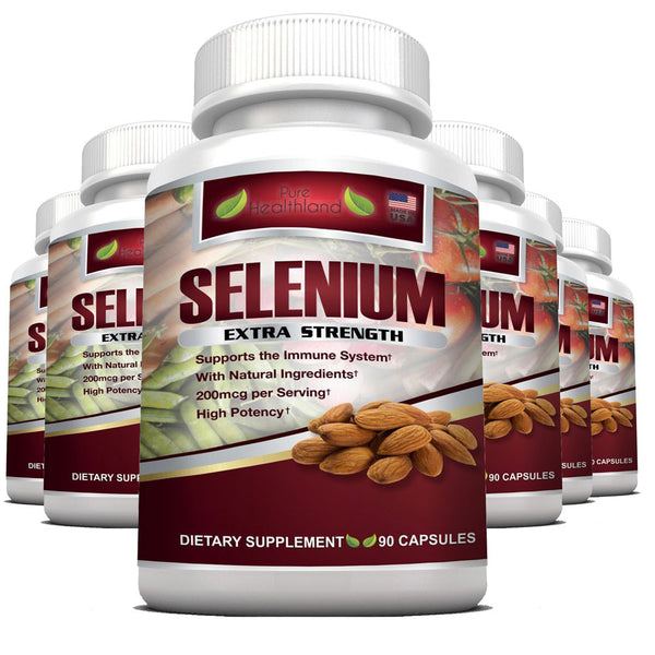 Selenium Supplement 200mcg By Pure Healthland - 6 Bottles