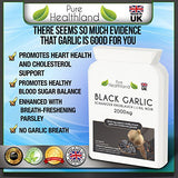 Odorless Black Garlic Supplement Tablets Gluten Free Vegan Veggie