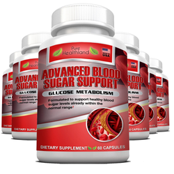 Natural Blood Sugar Control Support Supplements Pills - 6 Bottles