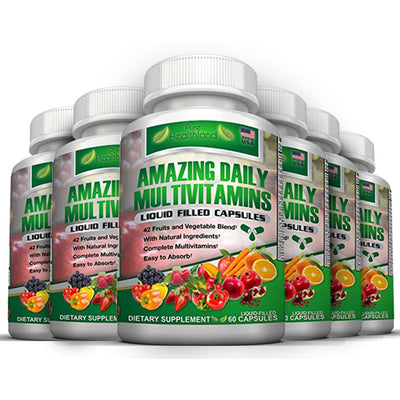 Superfood Daily Multivitamin Capsules - 6 Bottles - Pure Healthland