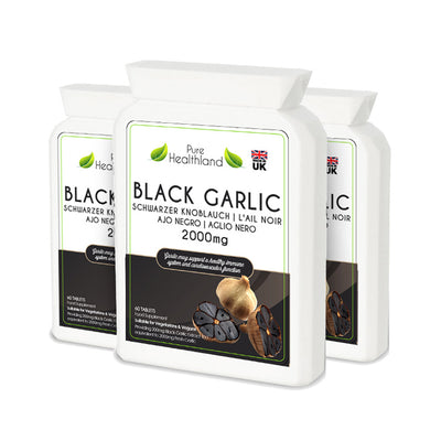 Black Garlic Supplement - 3 Bottles - Pure Healthland
