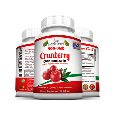 Cranberry Concentrate Supplement - 3 Bottles - Pure Healthland