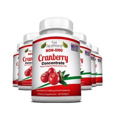 Cranberry Concentrate Supplement - 6 Bottles - Pure Healthland