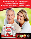 NON GMO Cranberry Concentrate Supplements Pills for Urinary Tract Infection - UTI