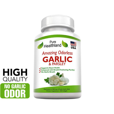 Odorless Garlic And Parsley Supplements - Pure Healthland
