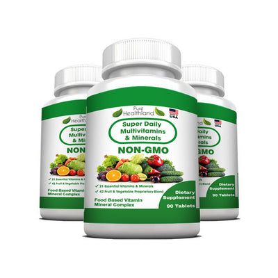 Super Multivitamin Tablets - 3 Bottles - Pure Healthland