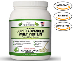 Best Tasting Whey Protein Isolate Powder Diet Supplements Vanilla Flavor NON GMO