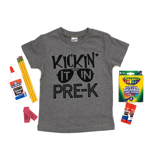Back to School Shirt: Kickin' It In Pre-K