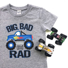 Monster Trucks - Shirt - Tshirt - Boys - Girls - Birthday - Like Big Trucks - Monster - Top - Truck - Big Bad and Rad - Boy - Toddler
