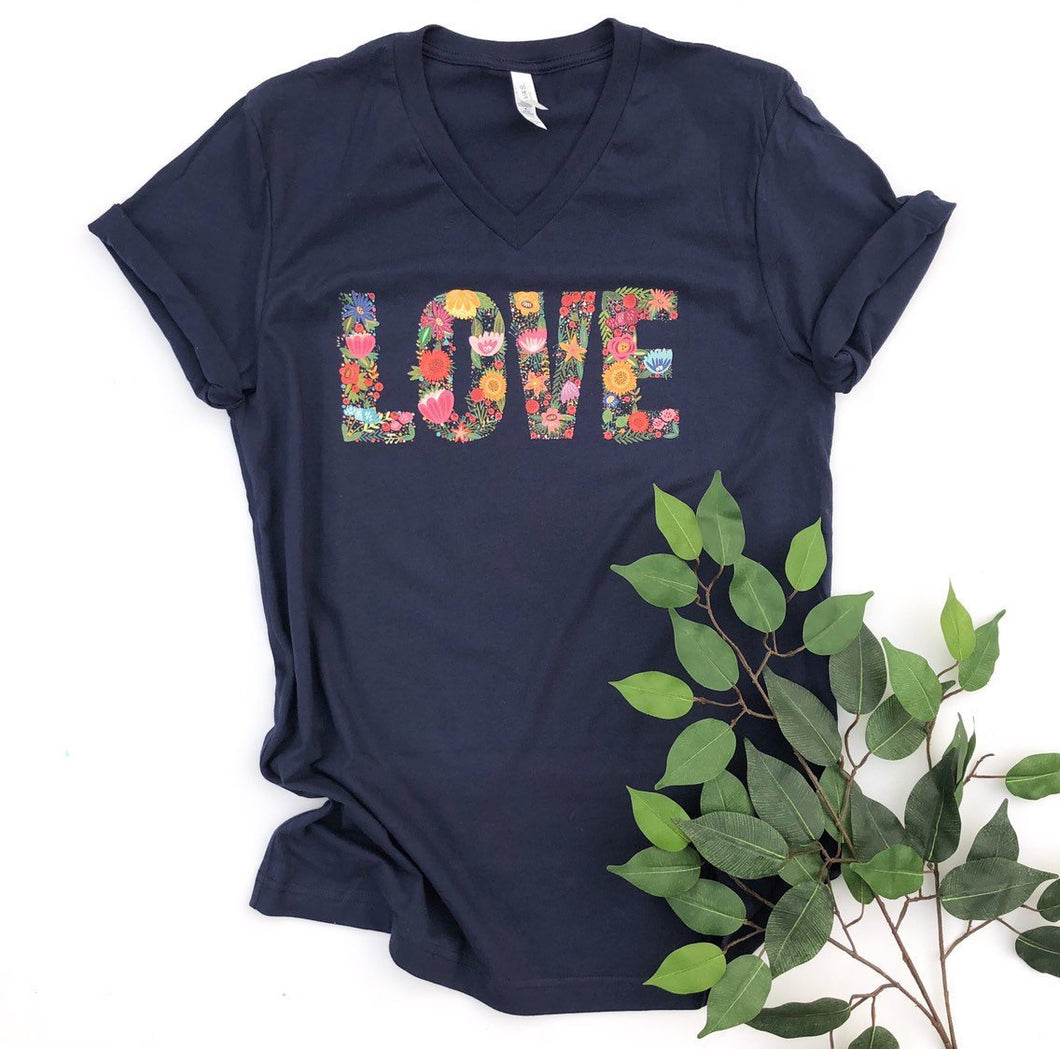 love shirt - spring shirt - floral shirt - womens floral shirt - flower shirt - womens shirt - mama tshirt - shirt for women - summer flower