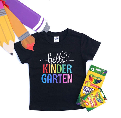 Hello Kindergarten - School Shirt - Welcome Back to School - Kinder Shirt - Kindergarten Poster - Kinder Sign - Kinder Poster - Kindergaten