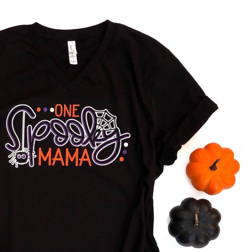 one spooky mama - mama spooky shirt - mama halloween shirt - halloween shirt for mom - mama halloween t-shirt - spooky mama - mom halloween