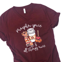 pumpkin spice and everything nice - womens pumpkin spice shirt - pumpkin spice - PSL shirt - ladies pumpkin spice shirt - fall tshirt
