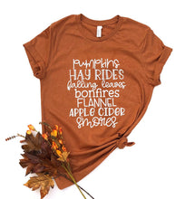 fall list shirt - fall bucket list shirt - fall shirt - fall tshirt - smores shirt - fall leaves shirt - apple cider - fall things - autumn